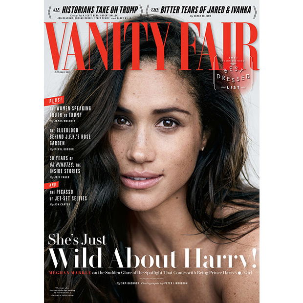"Meghan gave her first interview about her boyfriend Prince Harry in the October issue of <a href=""http://www.vanityfair.com""><em>Vanity Fair</em></a>. Speaking about their relationship, the <em>Suits</em> star said, ""We're two people who are really happy and in love. We were very quietly dating for about six months before it became news, and I was working during that whole time, and the only thing that changed was people's perception. Nothing about me changed. I'm still the same person that I am, and I've never defined myself by my relationship.""