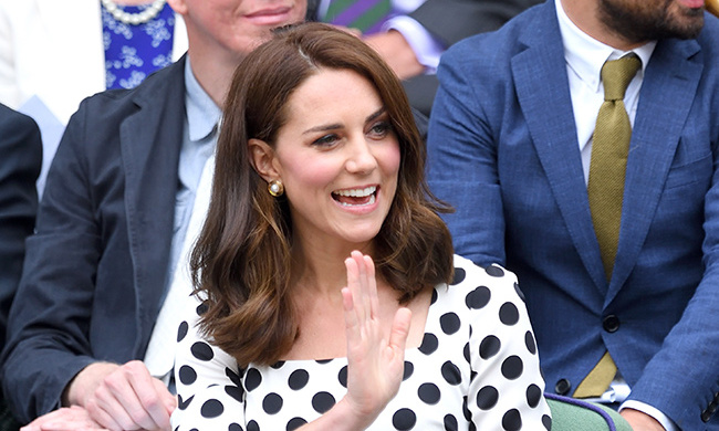 Kate debuted a shorter cut at Wimbledon this year