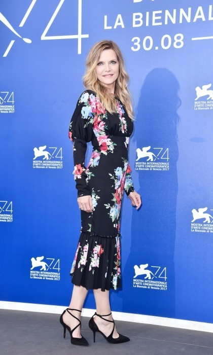 <h4>Michelle Pfeiffer at the photocall for <em>mother! </em></h4>