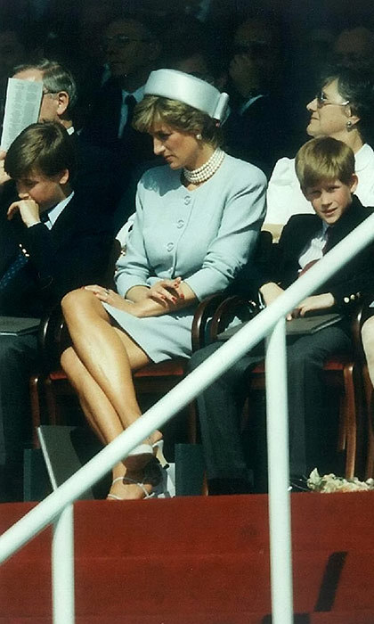 Princes William and Harry with their mother, Princess Diana.