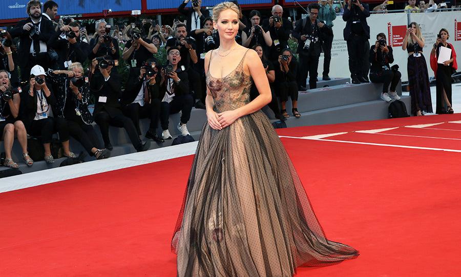 <h4>Jennifer Lawrence at the premiere of <em>mother! </em></h4>