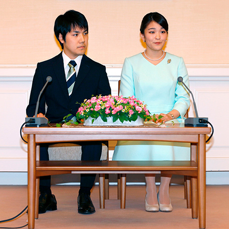"The happy pair met as students at Tokyo's International Christian University in 2012. ""I was first attracted to his bright smiles that seemed like the sun,"" the princess said. ""It would be nice to have a warm and comfortable household with Mr. Komuro, so that we can make a family full of smiles.""