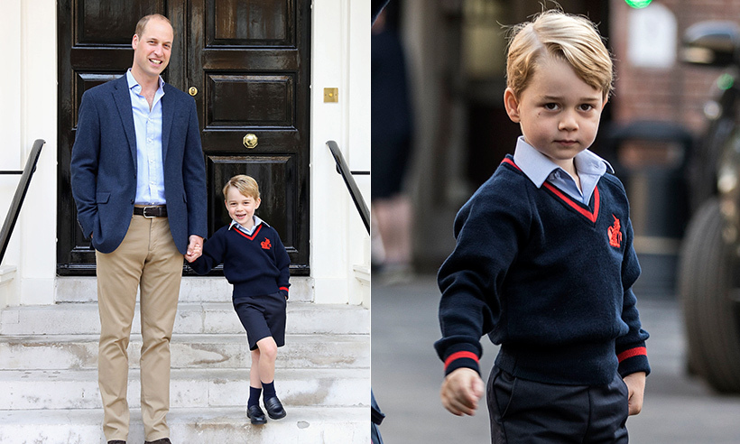 Prince George Is All Smiles In His Official First Day Of