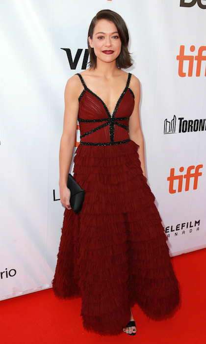 <h4>Tatiana Maslany at the premiere of <em>Stronger</em></h4>