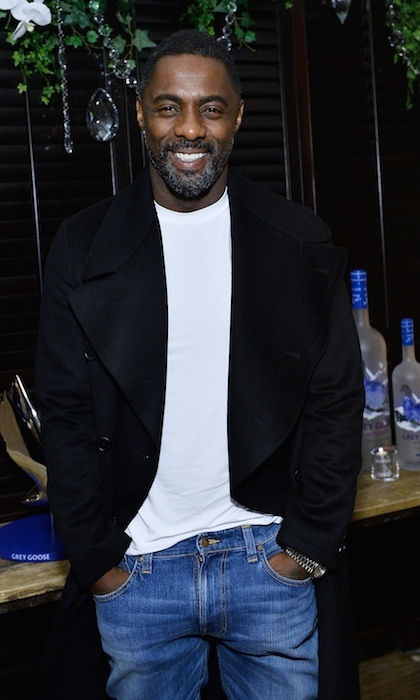 Leading man Idris Elba looked devilishly handsome at his movie's after party. 