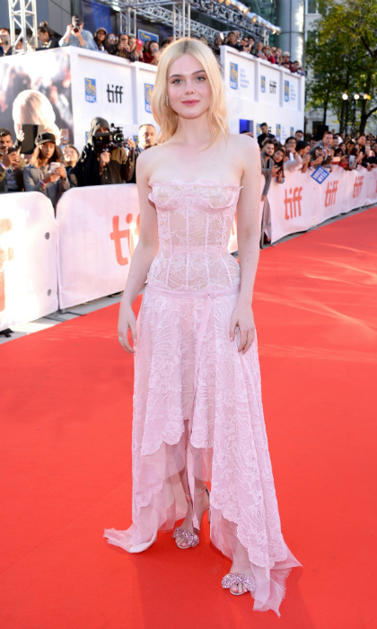<h4>Elle Fanning at the premiere of <em>Mary Shelley</em></h4>