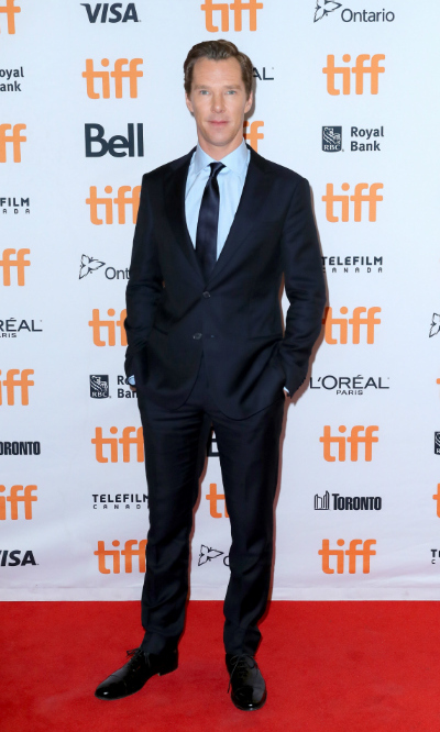 <h4>Benedict Cumberbatch at the premiere of <em>The Current War</em></h4>