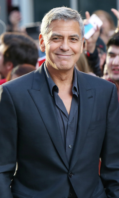 <h4>George Clooney at the premiere of <em>Suburbicon</em></h4>