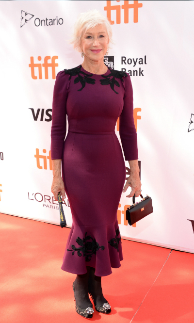 <h4>Helen Mirren at the premiere of <em>The Leisure Seeker</em></h4>