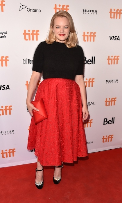 <h4>Elisabeth Moss at the premiere of <em>The Square</em></h4>