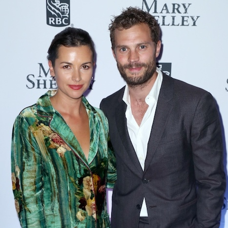 Jamie Dornan and wife Amelia Warner stopped by the Mary Shelley party. Amelia is a composer on the film. 