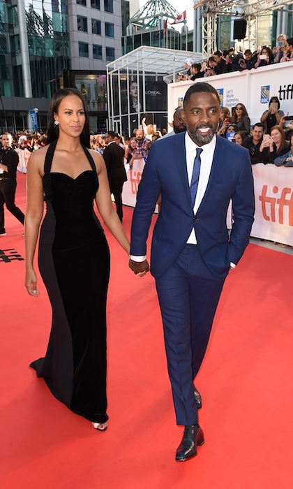 <h4>Idris Elba and girlfriend Sabrina at the premiere of <em>The Mountain Between Us</em></h4>