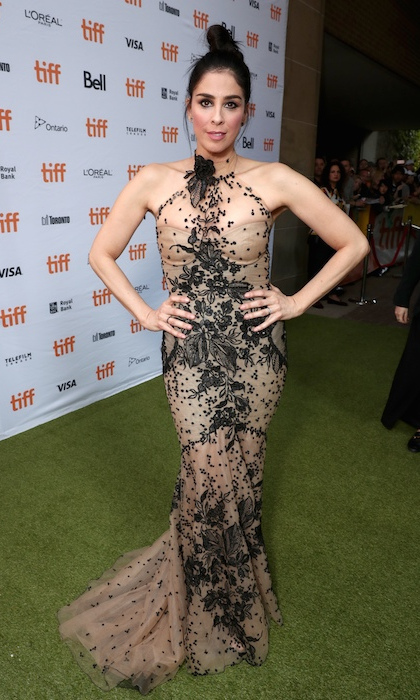 <h4>Sarah Silverman at the premiere of <em>Battle of the Sexes</em></h4>