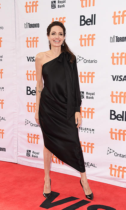 <h4>Angelina Jolie at the premiere of <em>First They Killed My Father</em></h4>