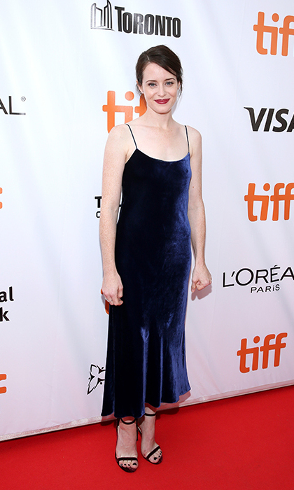 <h4>Claire Foy at the premiere of <em>Breathe</em></h4>