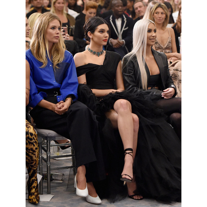 Doutzen Kroes, Kendall Jenner, who was awarded the Fashion Icon of the Decade award, and Kim Kardashian West ventured downtown to the Four Seasons hotel for the Daily Front Row Fashion Media Awards.