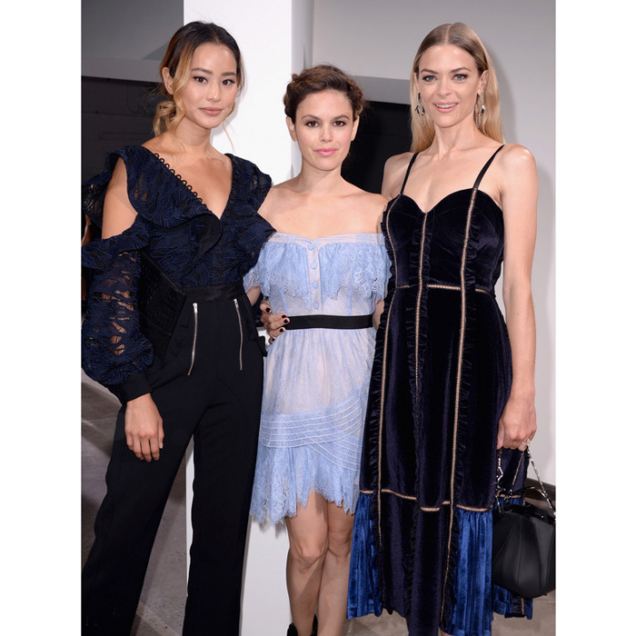 Jamie Chung, Rachel Bilson and Jaime King were bright-eyed at the Self-Portrait show.