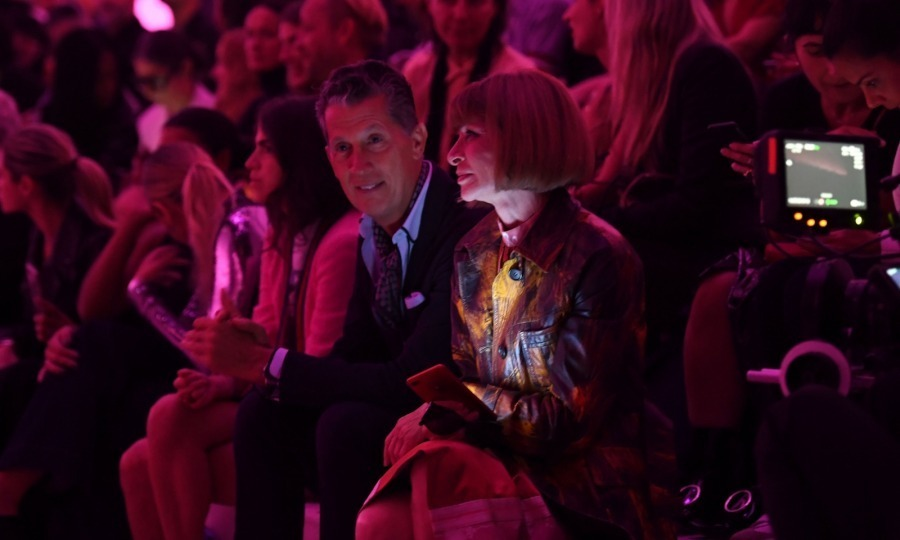 Anna Wintour had her editor-in-chief eye on the Tom Ford show from a front row seat.