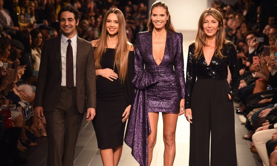Jessica Alba brought her baby bump to the runway! The pregnant 36-year-old talent joined fellow judges Zac Posen, Heidi Klum and Nina Garcia at the Project Runway fashion show at Gallery 1, Skylight Clarkson Sq. on September 8. 