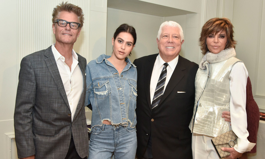 Amelia Hamlin mader her New York Fashion Week debut in the Dennis Basso show and her proud parents Lisa Rinna and Harry Hamlin were front row to watch.