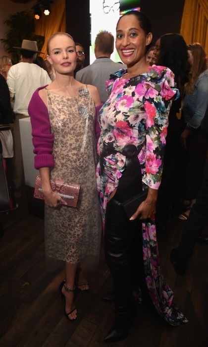 "Kate Bosworth and Tracee Ellis Ross went glam in pink flourished ensembles, as they chatted at the gala. In a unique move, Kate wore a plastic covered Raf Simons' debut Calvin Klein Collection dress. ""I feel very honored to be wearing this,"" she told HELLO!.