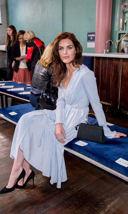 Hilary Rhoda opted for a pastel hue for the Adeam show at China Blue.
