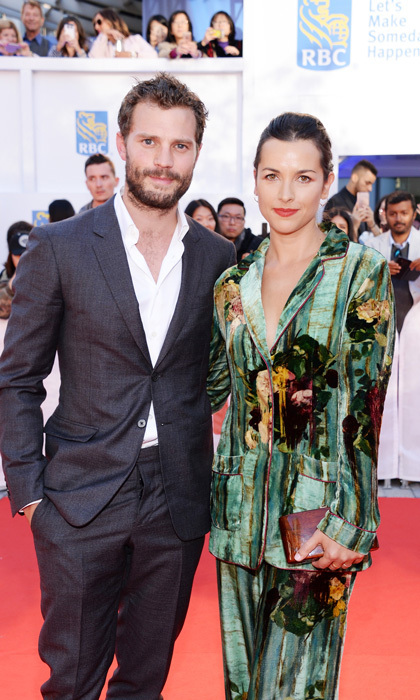 Jamie Dornan and his wife Amelia Warner were quite the dashing duo on the Mary Shelley carpet.