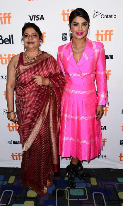 A Fendi-clad Priyanka Chopra and her mom Madhu Chopra made it a girls' night in Toronto while attending the Pahuna: The Little Visitors premiere.