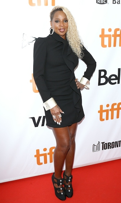 <h4>Mary J. Blige at the premiere of <em>Mudbound</em></h4>