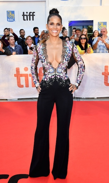 <h4>Halle Berry at the premiere of <em>Kings</em></h4>