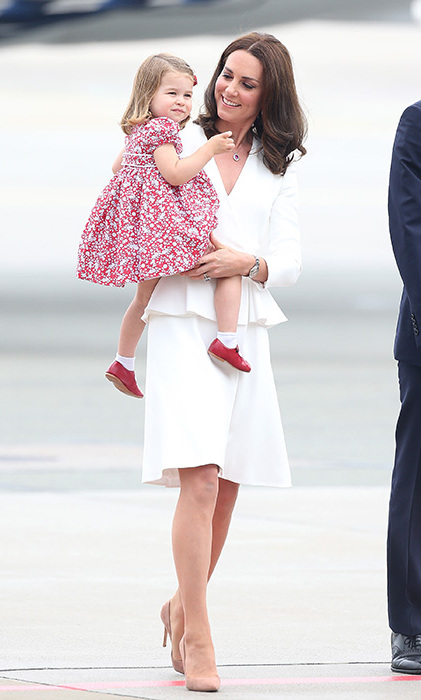 <p>Princess Charlotte and mum Kate on the royal tour of Poland and Germany.</p>