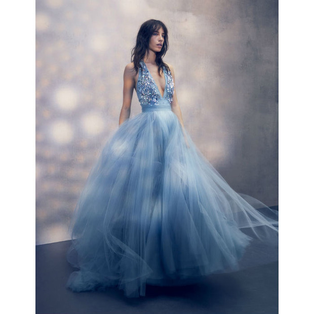A model in Jenny Packham's new Asian Garden inspired fashion collection