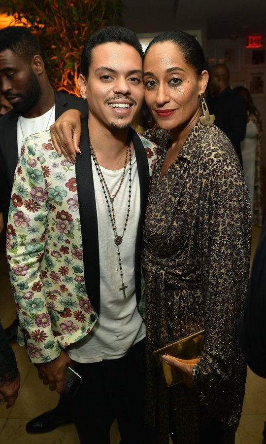 All in the family! Evan Ross and Tracee Ellis Ross 