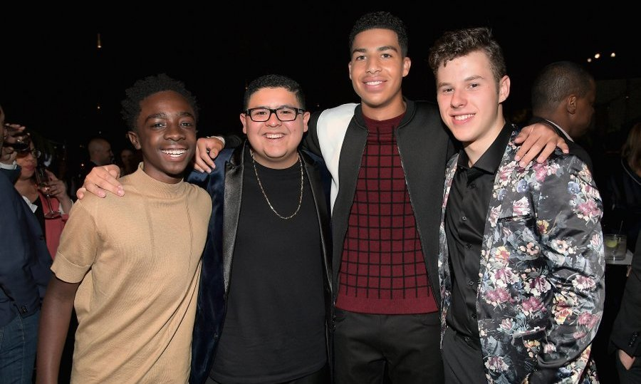 Young Hollywood talents Marcus Scribner, Nolan Gould, Rico Rodriguez, and Caleb McLaughlin.