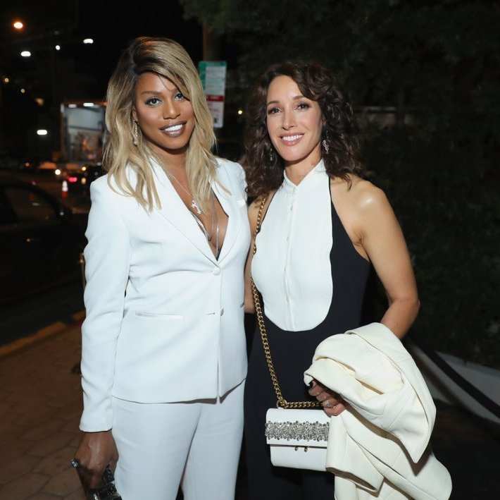 Laverne Cox and Jennifer Beals 