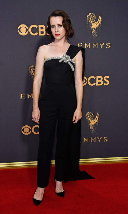 <h4>Claire Foy in Oscar de la Renta</h4>