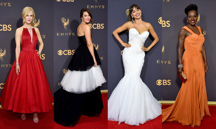 TV's biggest names descended on Hollywood's Microsoft Theater on Sunday (Sept. 17) for the 2017 Emmy Awards. And while the stars had their eyes set on Emmy gold, our eyes feasted on all of the covetable red carpet fashion moments. 