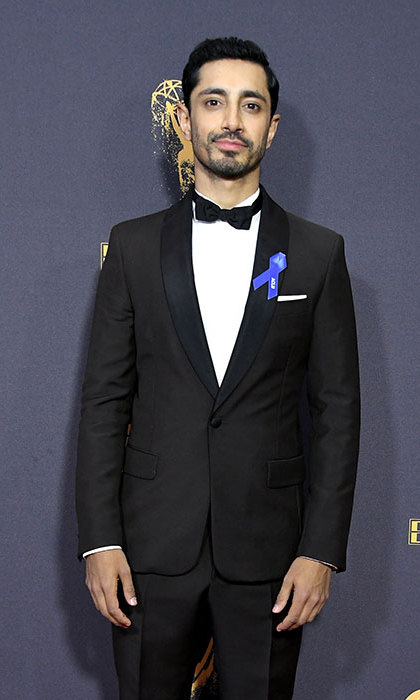 <p>Riz Ahmed also wore his ribbon at the star-studded event</p>