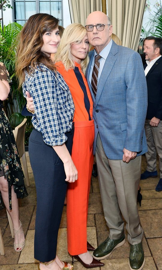 "Audi and Amazon Studios held an intimate brunch to celebrate ""Transparent"" nominees. Among stars gathered for the party in the garden of The Chateau Marmont on September 16 were (left to right) Kathryn Hahn, Judith Light and Jeffrey Tambor.