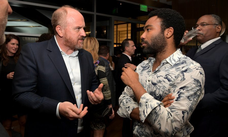 Louis CK, left, and Donald Glover