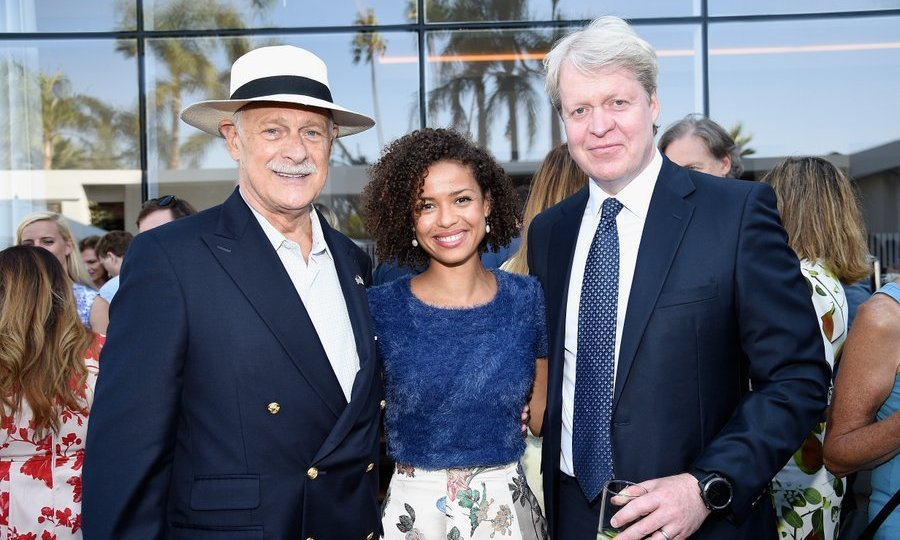 Earl Spencer with Gerald McRaney and British actress Gugu Mbatha-Raw.