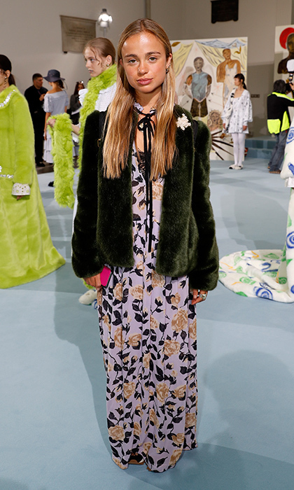 <p>Lady Amelia Windsor wore a silk maxidress to the Shrimps presentation at The Swiss Church.</p>