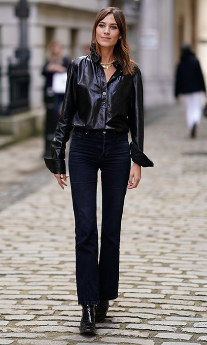 <p>Alexa Chung was spotted looking characteristically cool outside Simone Rocha.</p>