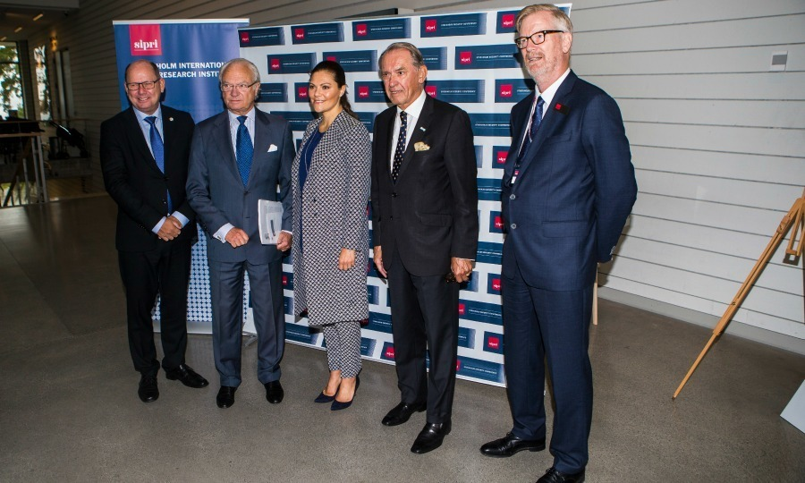 <p>King Carl XVI Gustaf of Sweden was joined by his oldest daughter Crown Princess Victoria and Jan Eliasson as they attended the 2017 Stockholm Security Conference at Artipelag on September 14.</p>