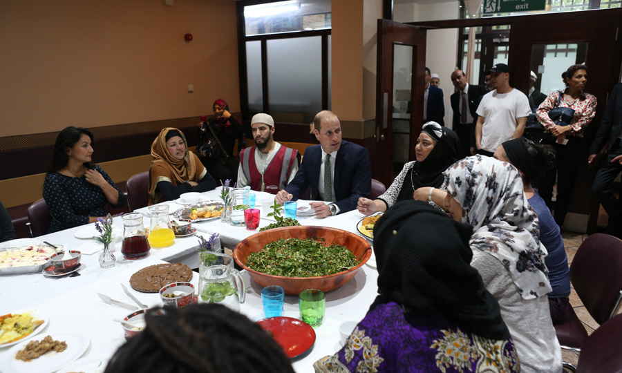 <p>Prince William enjoyed a meal with members of the community at the Al-Manaar Muslim Cultural Heritage Centre during a visit to Support4Grenfell community hub.</p>