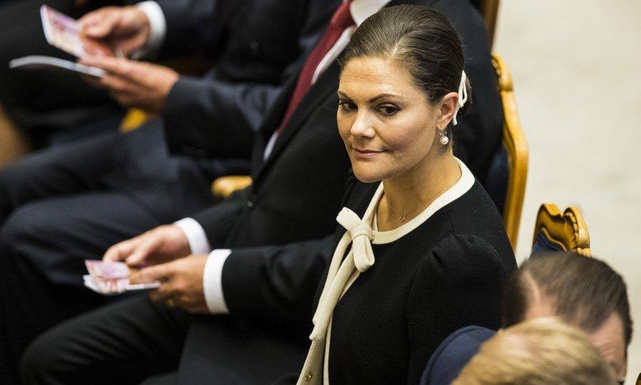 <p>Crown Princess Victoria of Sweden attended the opening of the Parliamentary session on September 12 in Stockholm.</p>