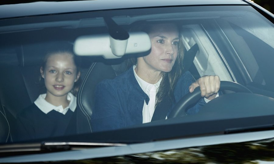 <p>It was back to class for Princess Leonor of Spain, who was driven to the first day of school by mom Queen Letizia in Madrid on September 11. </p>