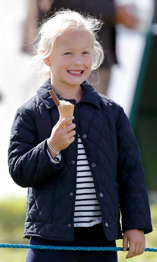 <p>Whoops! Queen Elizabeth's great-granddaughter Savannah Phillips got ice cream on her nose during the Whatley Manor Horse Trials at Gatcombe Park.</p>