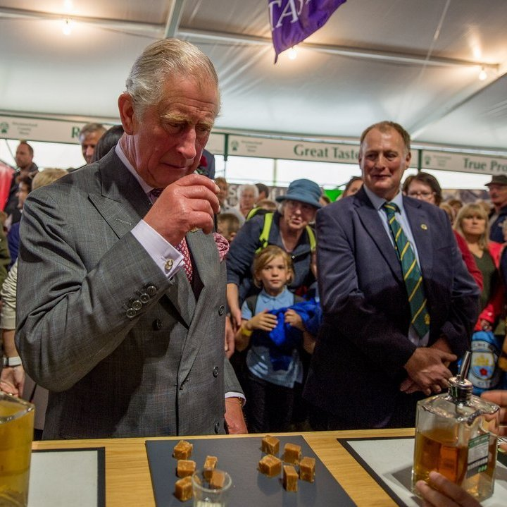 <p>Prince Charles got a taste of the wares sold at the Mint Drinks Co stall at the Westmorland County Show on September 14 in Milnthorpe, England. </p>