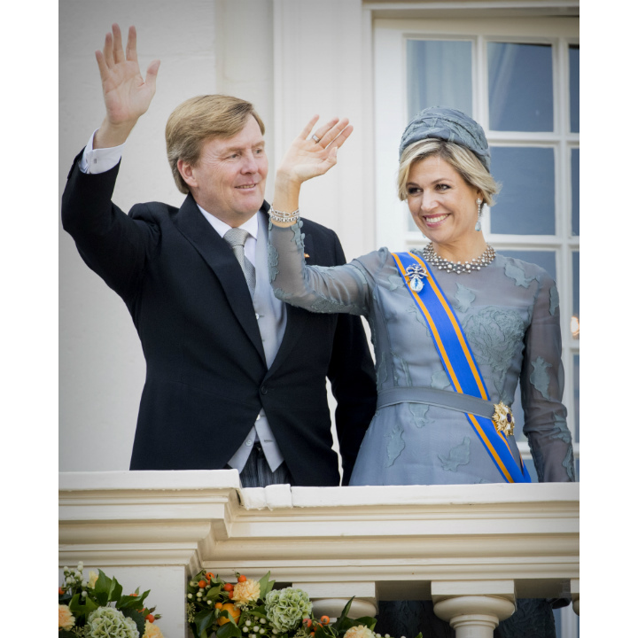 King Willem-Alexander was joined by his wife Queen Maxima of the Netherlands at the opening of Dutch parliament on Monday (Sept. 18).  